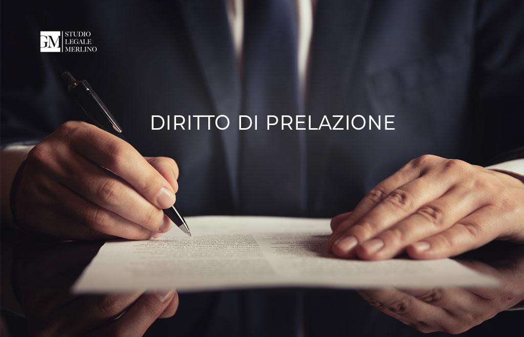 Cos'è il diritto di prelazione?