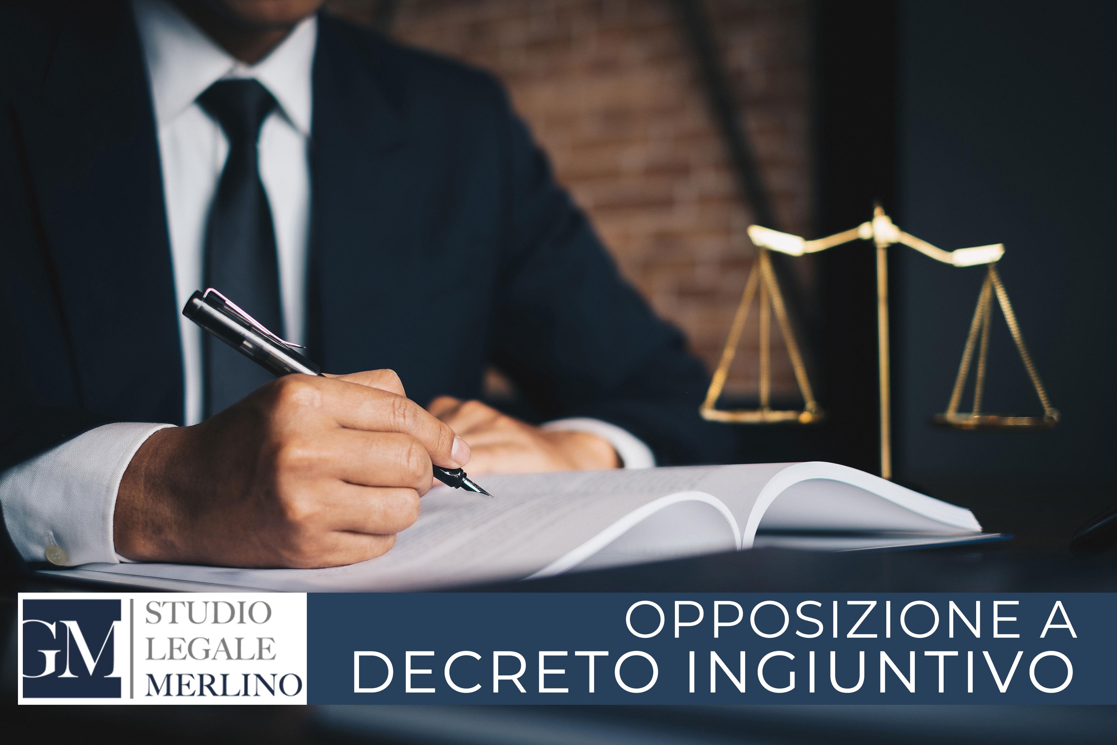Opposizione a decreto ingiuntivo con fac simile atto di opposizione
