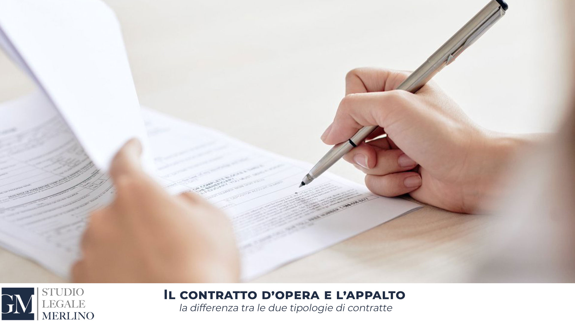 Il contratto d'opera e l'appalto
